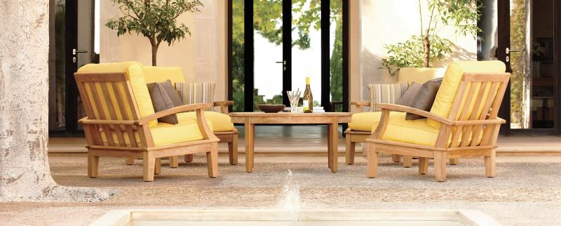 Holiday Patio Furniture Teak Poly Umbrellas Cushions